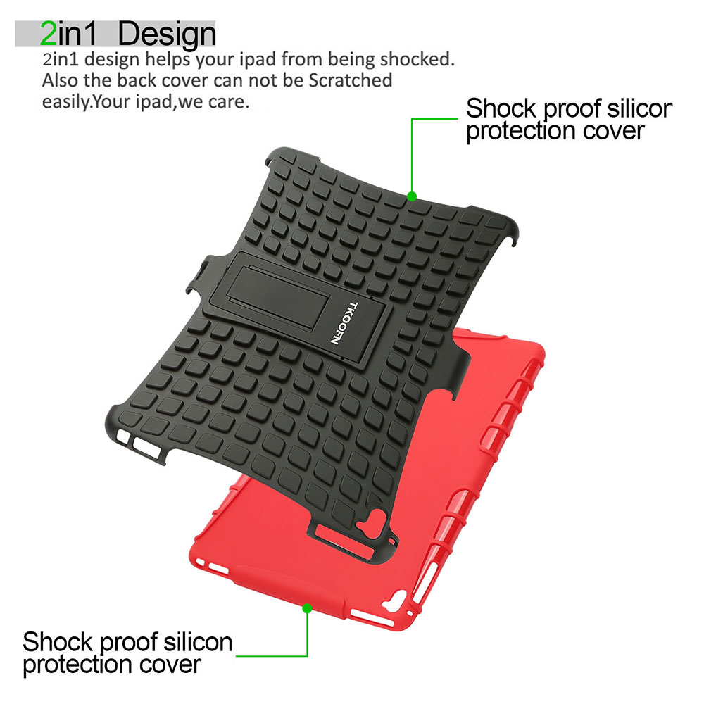 Hybrid Heavy Duty Shockproof Stand Hard Case Cover for iPad 2/3/4 Mini 9.7 Air 2